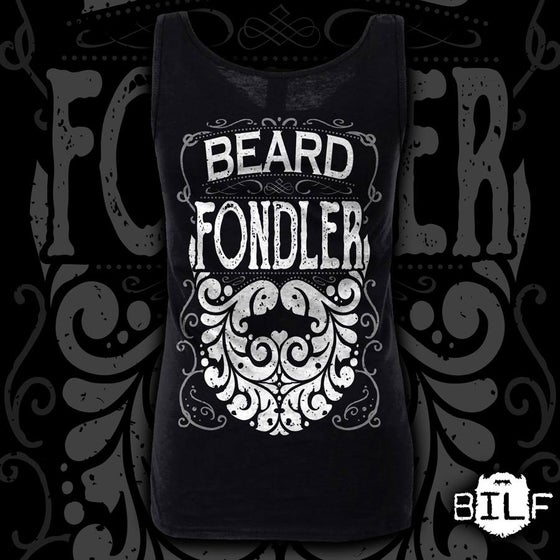 "Image of NEW STOCK Ladies Black ""Beard Fondler"" Vest"