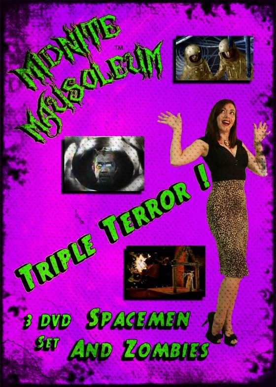 "Image of Midnite Mausoleum Triple Terror ""Spacemen & Zombies"" 3 DVD"