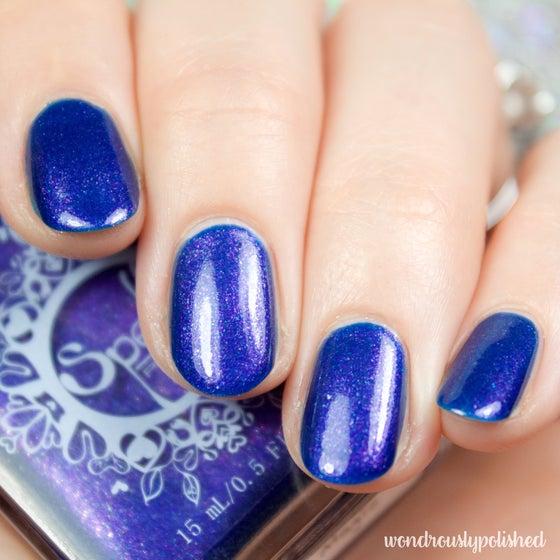 Image of ~Summer Nights Like Magic~ deep royal blue-violet duochrome nail polish!