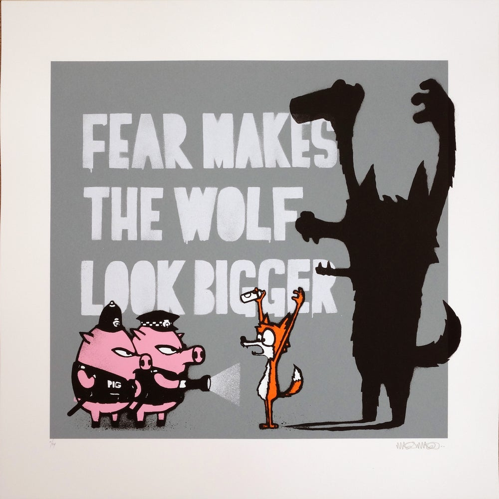 Image of MAU MAU FEAR MAKES THE WOLF LOOK BIGGER CEMENT