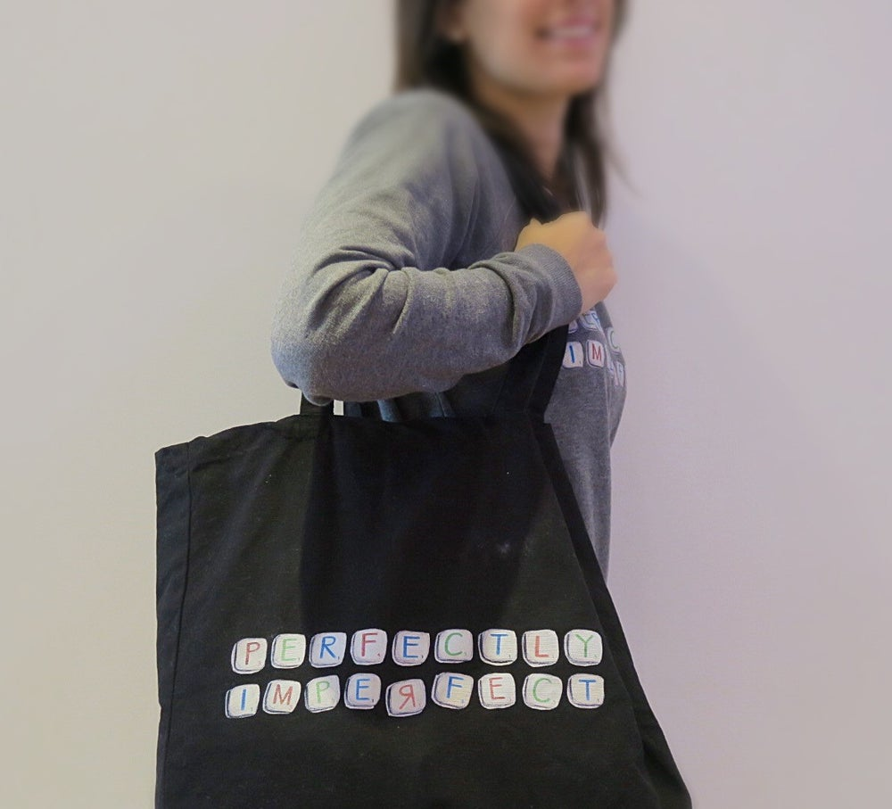 Image of Perfectly Imperfect - Shopper Tote in Black