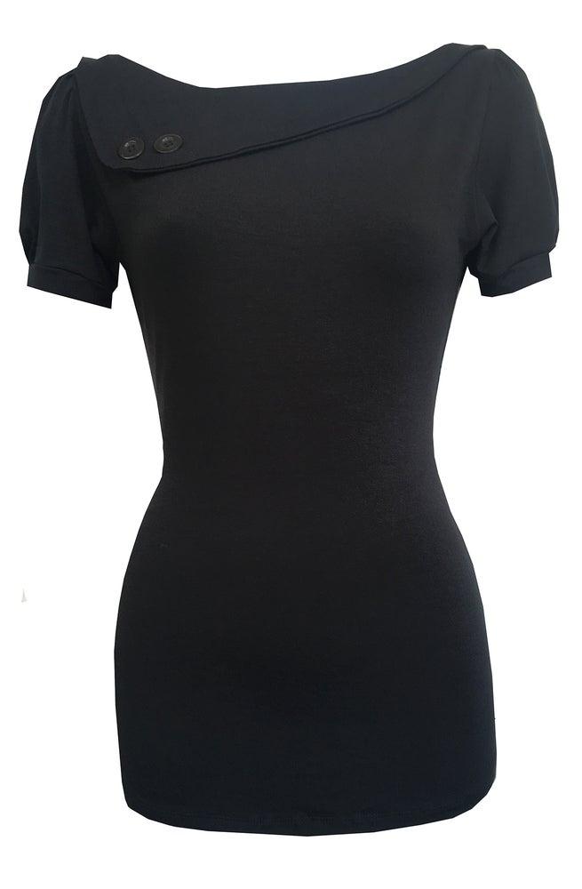 Image of Black sass top