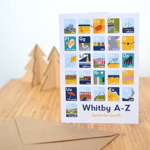 Image of Whitby A-Z A5 Greetings Card