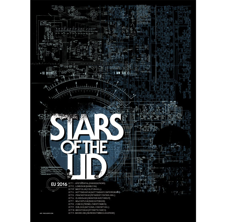 Image of Stars of the Lid, European poster