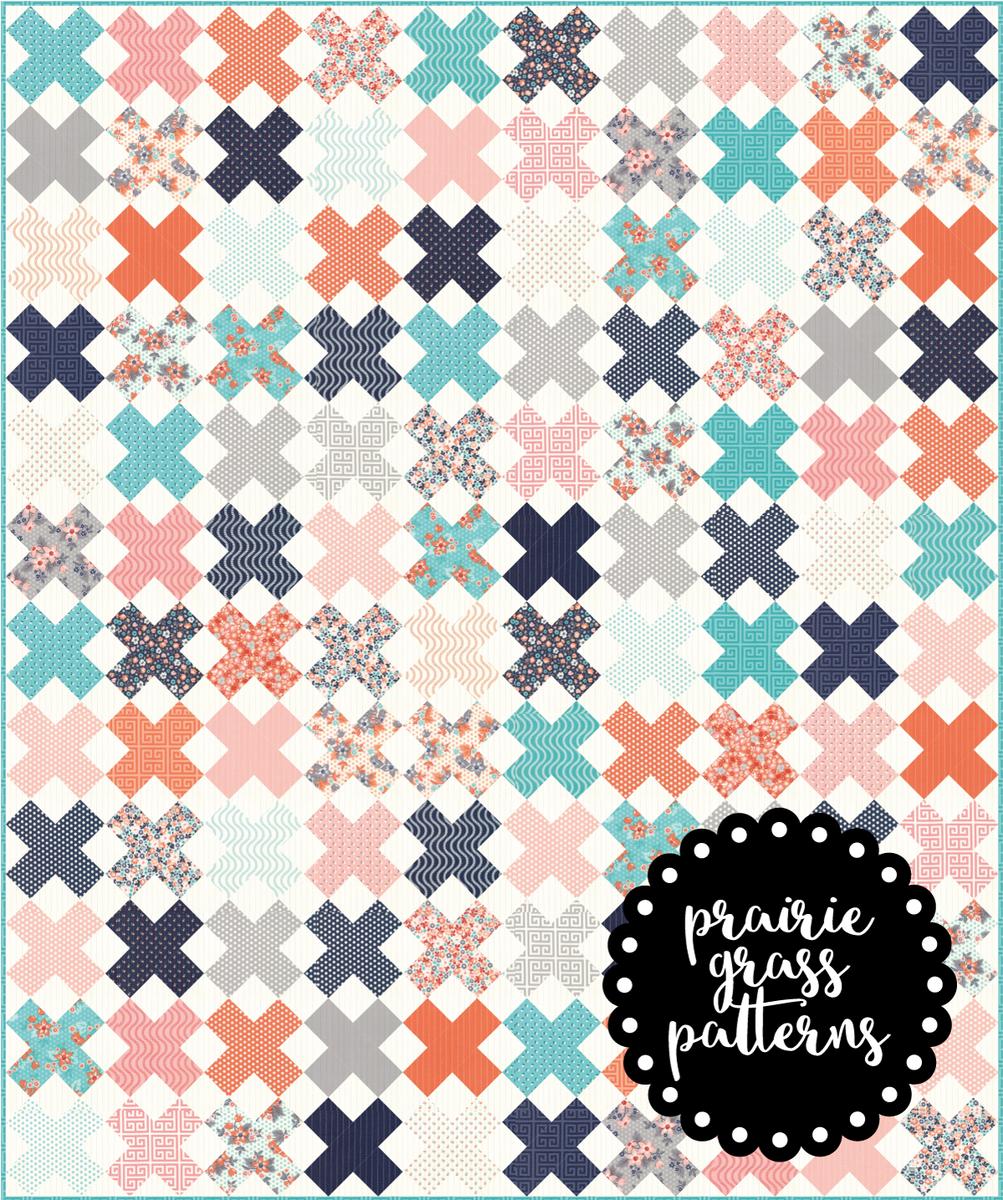 143 Crisscross Quilt Pattern Paper Prairie Grass Patterns