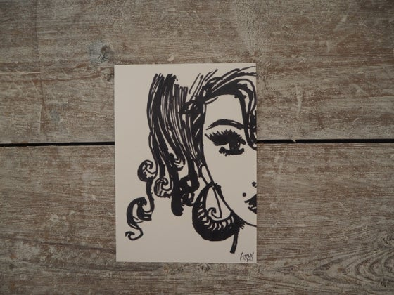 Image of Amy Self-Portrait Postcard