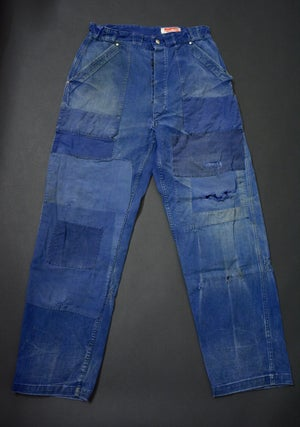 Image of 1940'S FRENCH INDIGO PANTS DARNED & PATCHED フレンチパッチワークパンツ