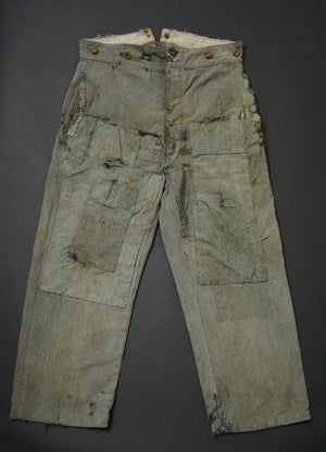 Image of 1900'S FRENCH SALT N' PEPPER PANTS PATCHED & FADED