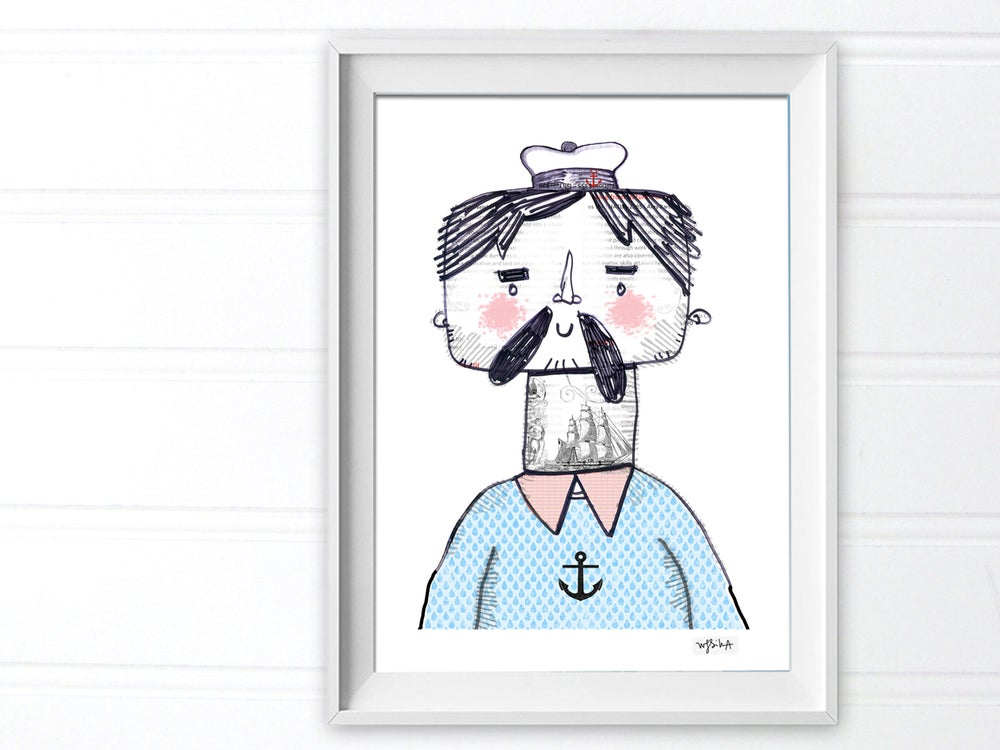 Image of Tattooed Sailor Print
