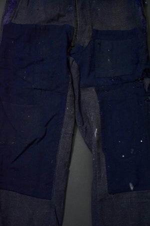 Image of 1920 FRENCH NAVY WOOL PANTS PATCHED