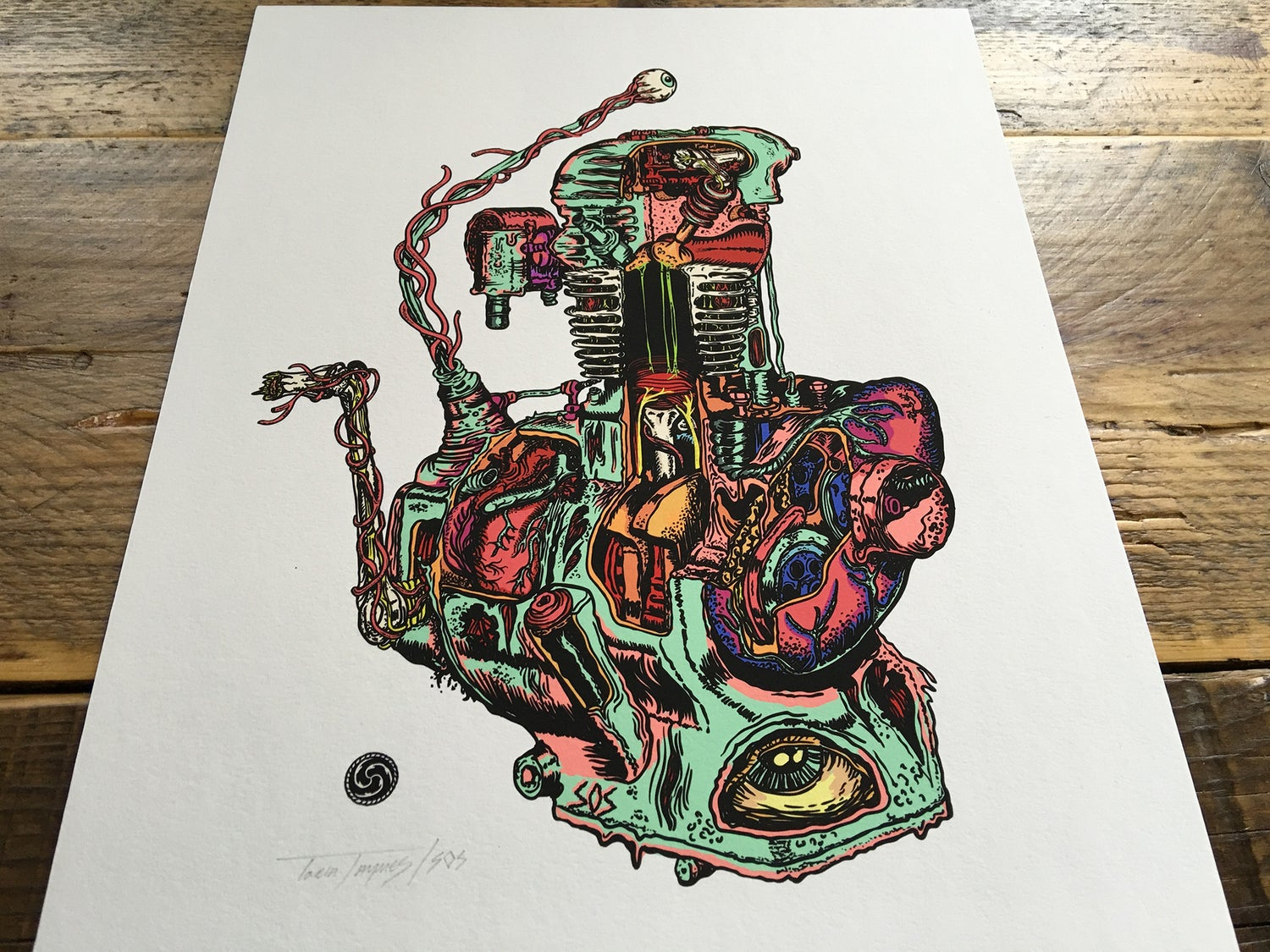 Image of It Lives - Engine Organism Print