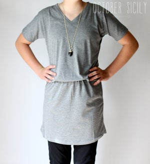 Image of Long Dolman Top | S-2XL | Black & Gray
