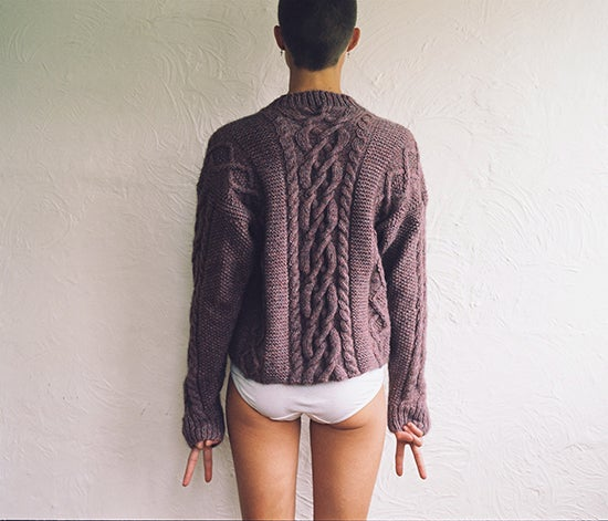 Image of Lavender Cable Jumper
