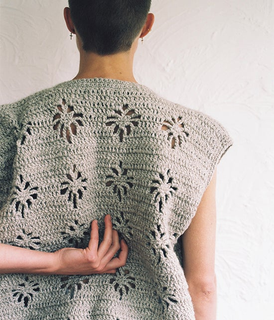 Image of Forget-Me-Not Chunky Vest