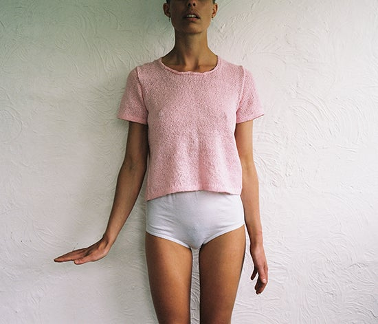 Image of Pink Linen T-Shirt