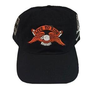 """Image of Rock Hard Vintage """"Biker"""" Black Dad Hat"""