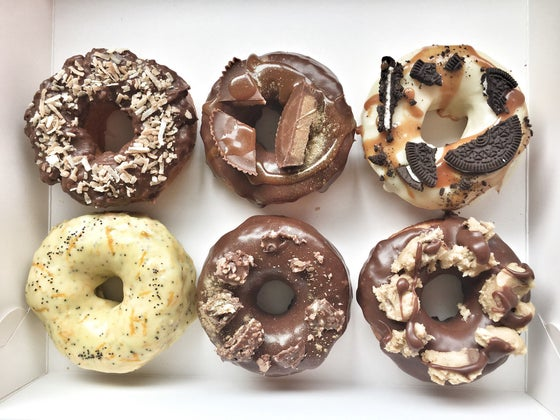 Image of BOX OF 6 GOURMET DONUTS