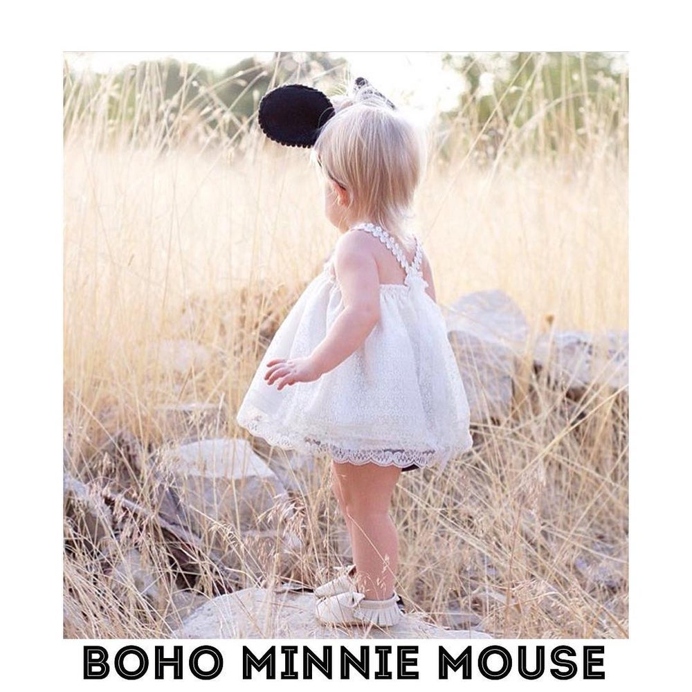 Image of Vintage Inspired Boho Minnie Mouse Outfit
