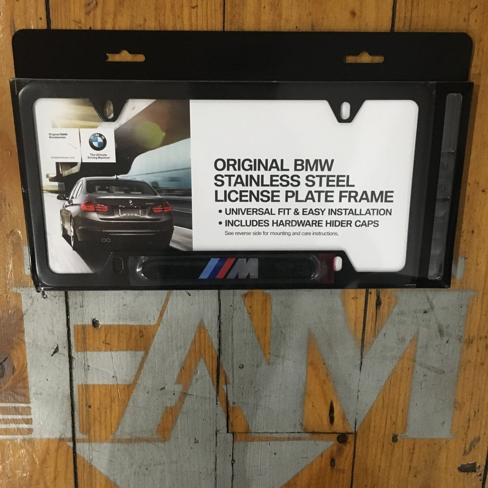Image of Original BMW M license plate frame