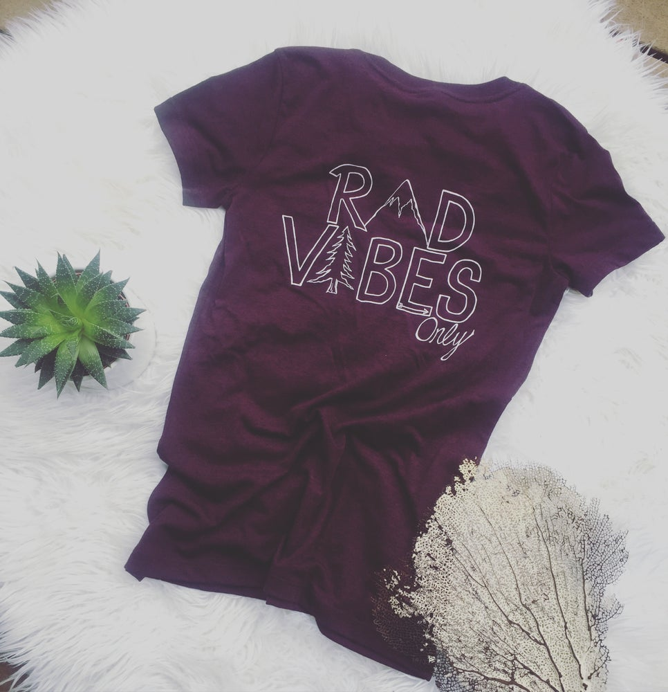 Image of Rad vibes V-neck tee shirt