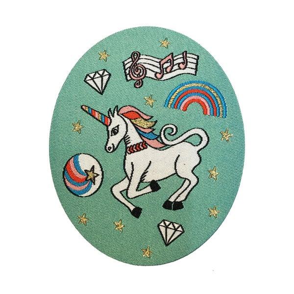 Image of **NEW** Rainbow Unicorn Iron-on Patch