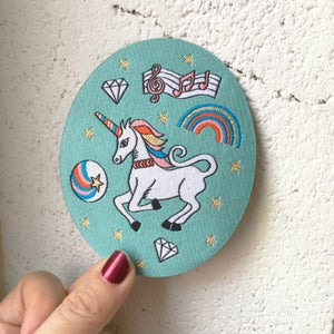 Image of Rainbow Unicorn Iron-on Patch