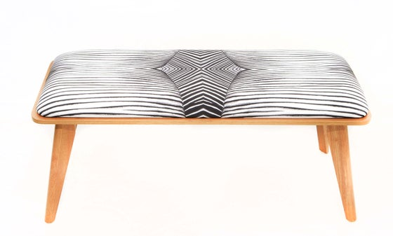 Image of ABSTRACT BLACK AND WHITE MODERN BENCH
