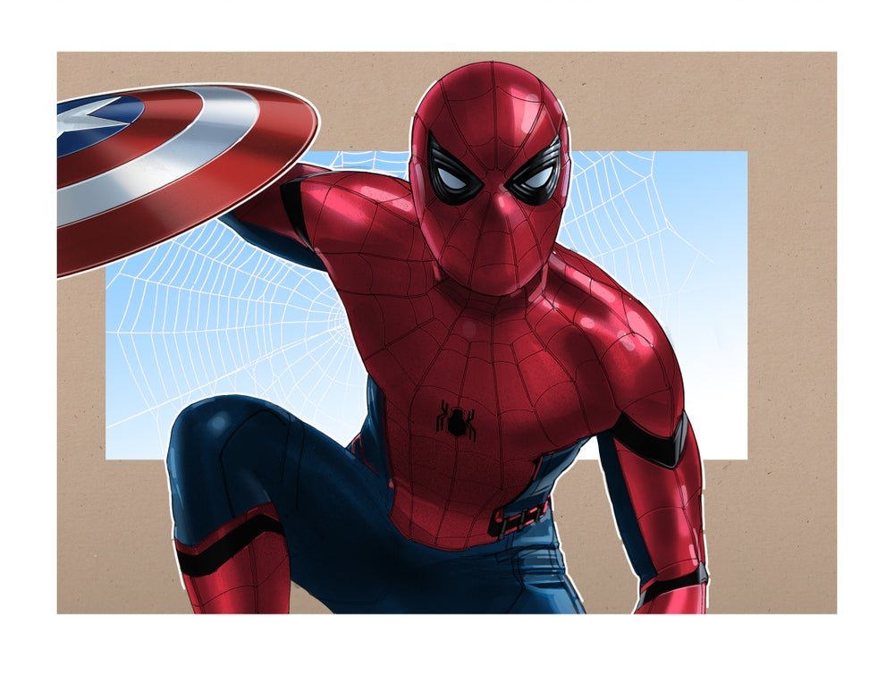 "Image of SpiderMan: 8 1/2"" x 11"" OPEN EDITION COLLECTIBLE Giclée PRINT"