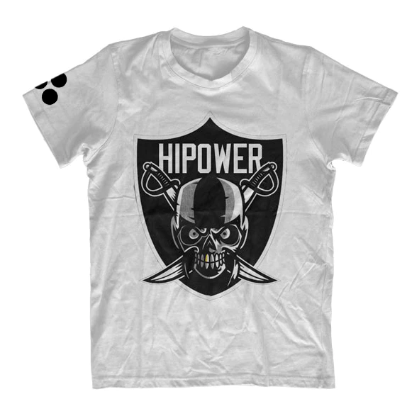 Image of HI POWER RAIDER WHITE  T-SHIRT