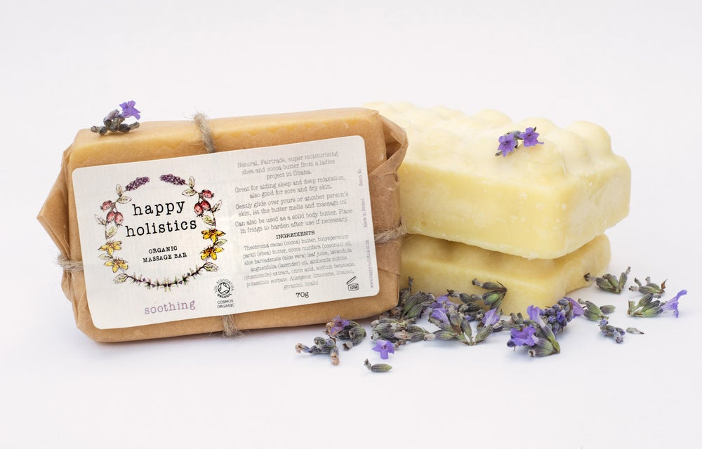 Image of Organic Massage Bars Soil Association certified  solid Body Butter