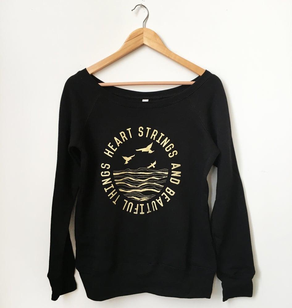 Image of Heart Strings and Beautiful Things-Sponge Fleece Wide Neck Sweatshirt