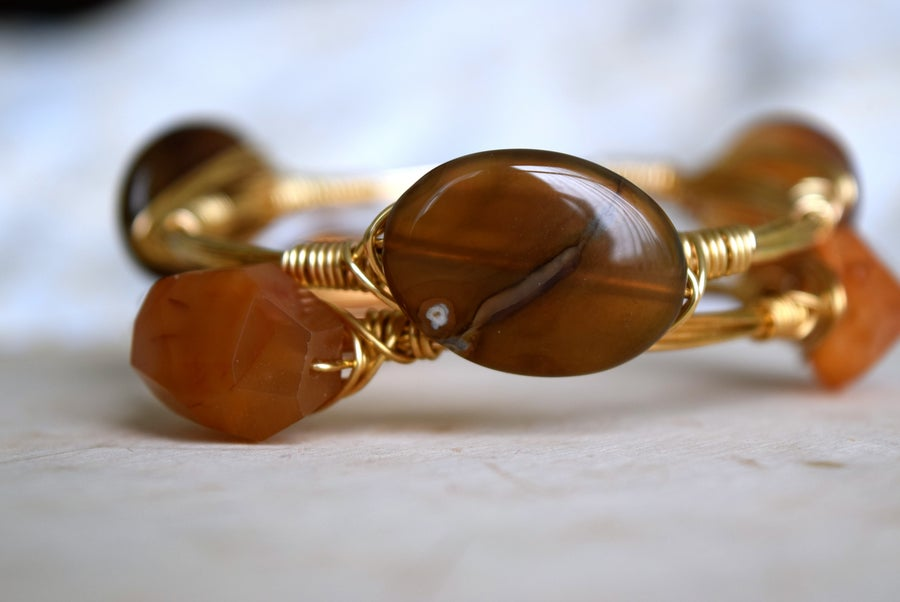 Image of Brown Agate Bangle