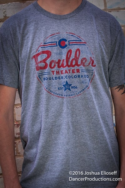 Image of Men's Gray Boulder Theater T-shirt