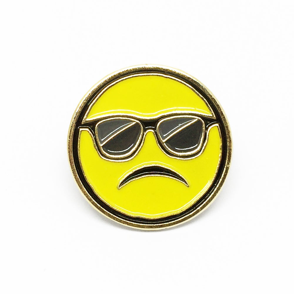 """Image of """"Cool Frown"""" Soft Enamel Pin"""