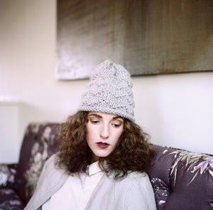 Image of Mattawa zig zag toque of Alpaca & Andean Highland wool (shown in silver)