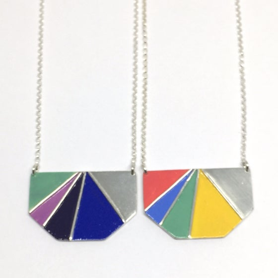 Image of Divided Half Hexagon Necklace