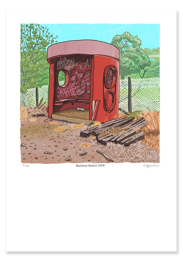 Image of Bus Shelter, Maitland Station, digital print
