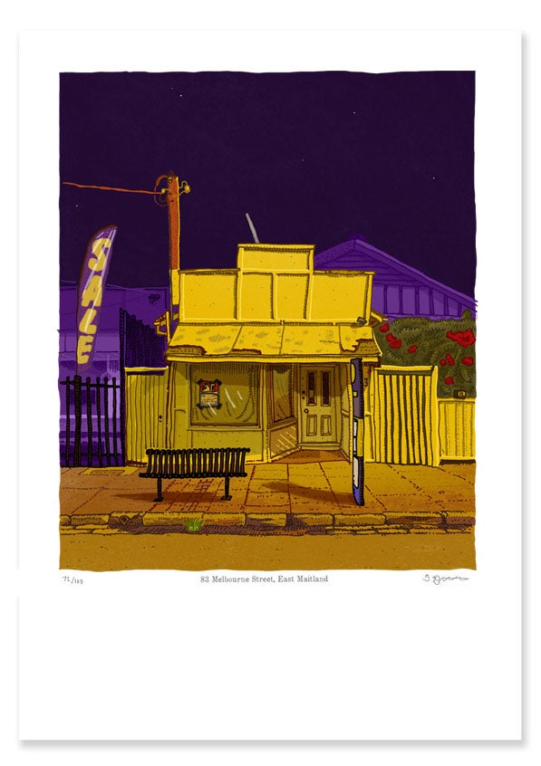 Image of 83 Melbourne Street, East Maitland, digital print