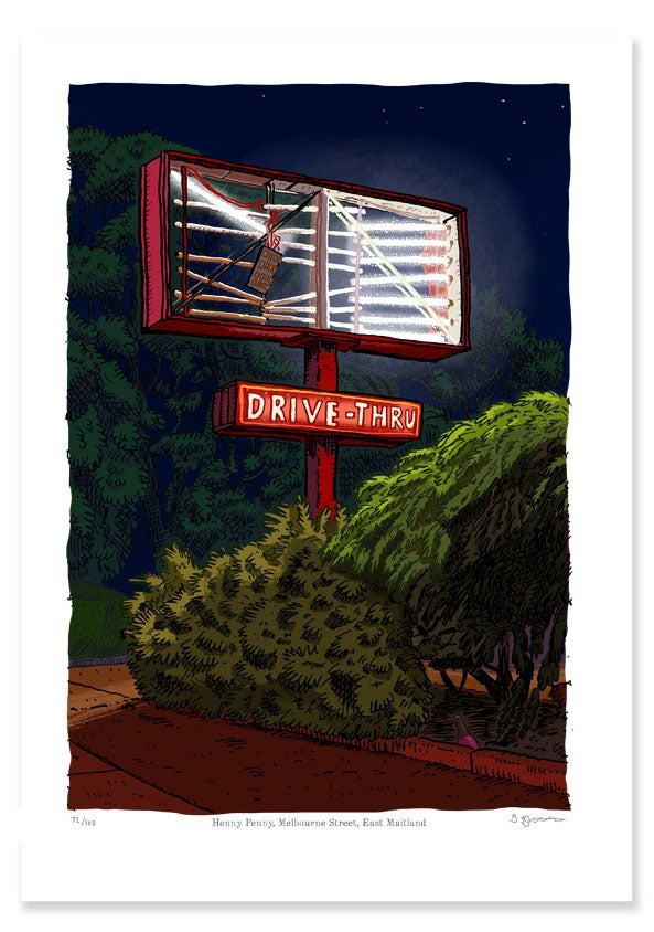 Image of Henny penny, East Maitland, digital print