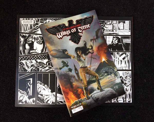 Image of Wings of Terror PRINT COMIC limited edition of 100 -- LAST FEW!