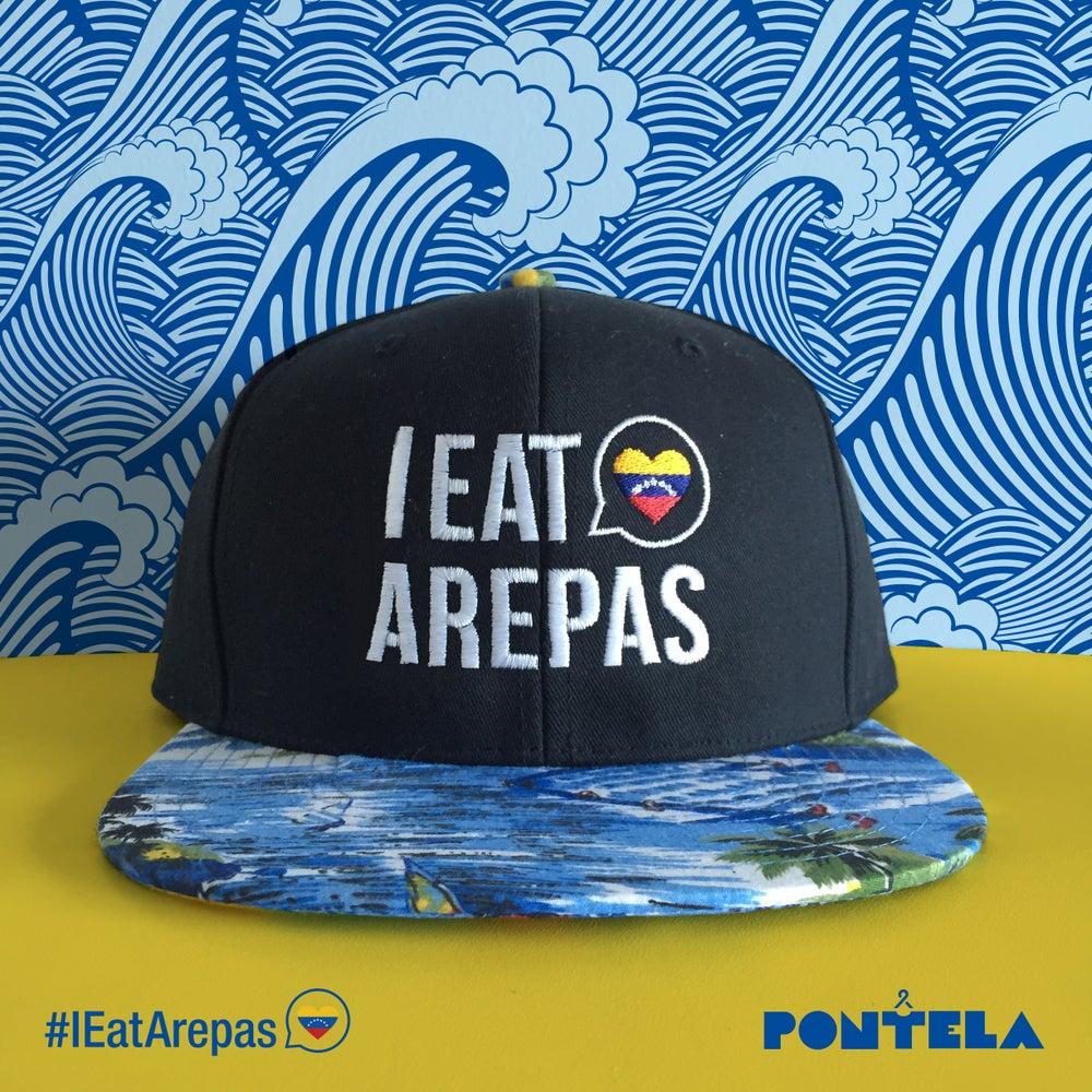 Image of I Eat Arepas Hawaii Blue