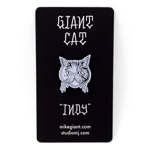 "Image of Giant Cat ""Indy"" Enamel Pin"