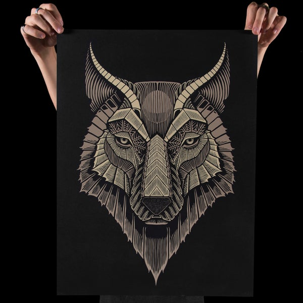 Image of WOLF 18X24""
