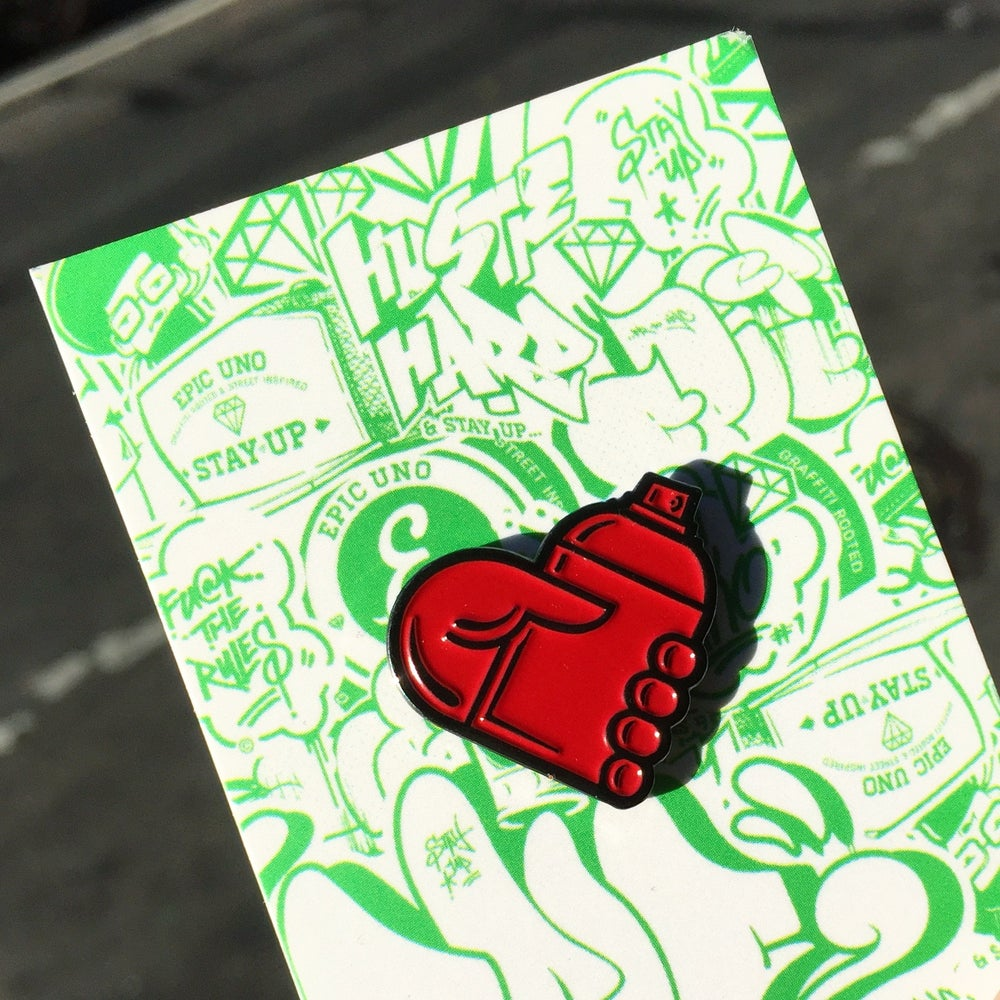 Image of GRAFFITI HEART PIN