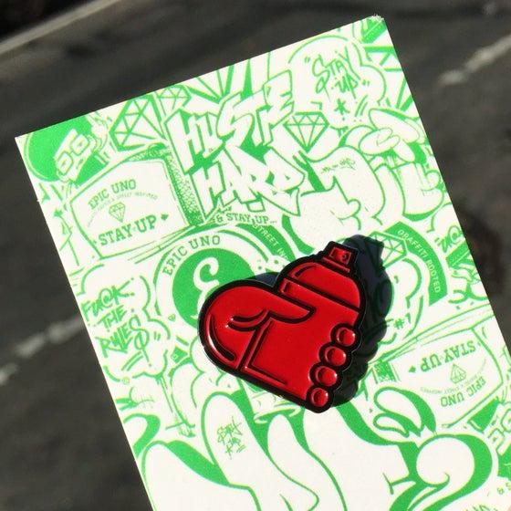 Image of GRAFFITI HEART PIN