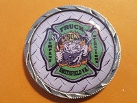 Image of Smithfield VFD Truck Class Challenge Coin