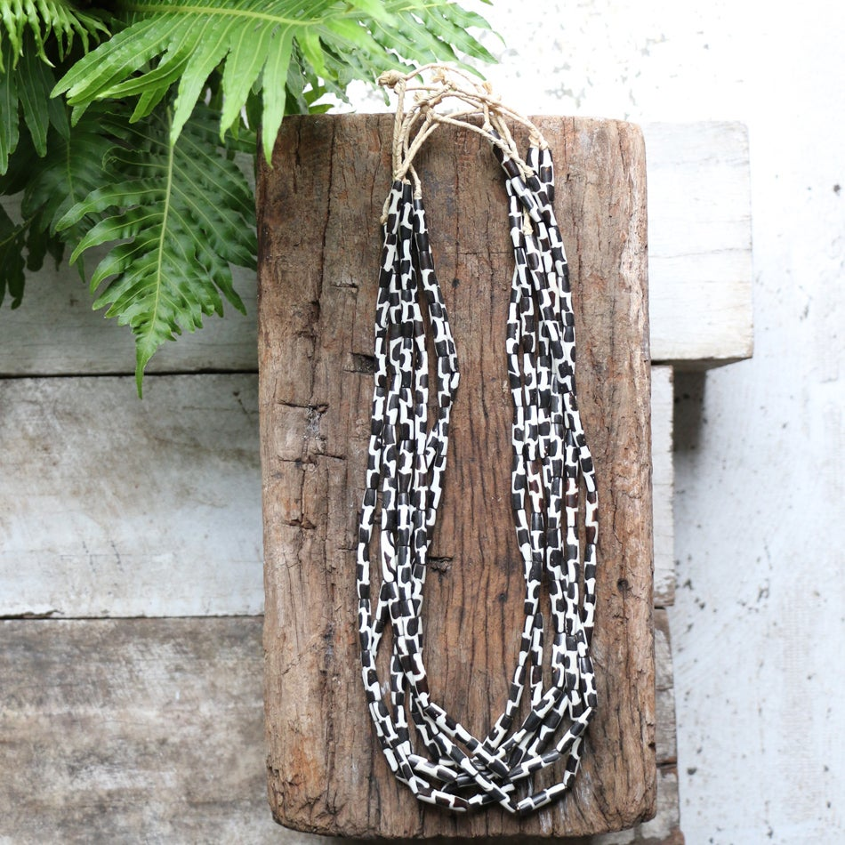 Image of Bone And Ebony Wood Necklace