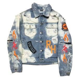 """Image of Rock Hard Vintage """"Biker Club"""" Washed Denim Jacket"""