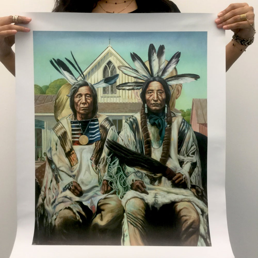 """Image of """"Native American Gothic"""" Giclée Print"""