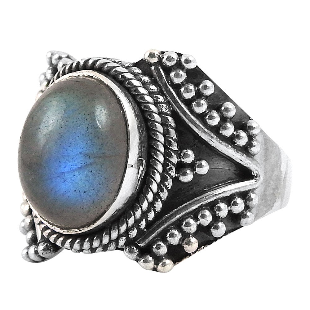 Image of Sterling Silver & Labradorite Sirius Ring